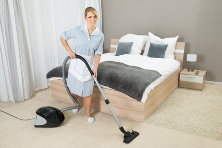 cleaning the bedroom big time european maids
