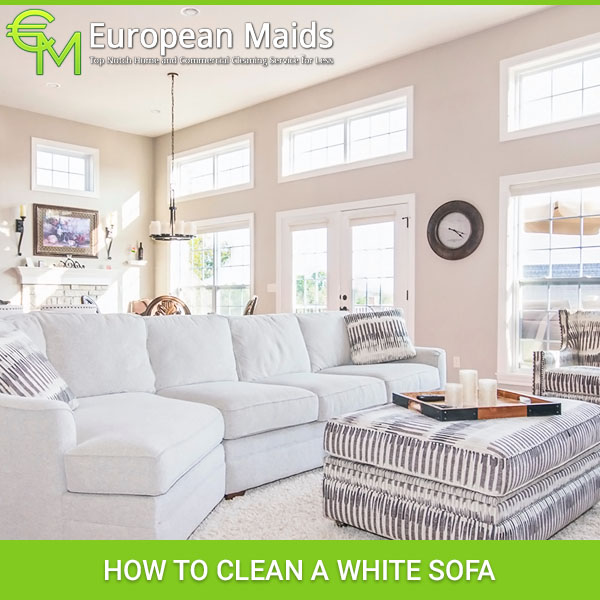 Sofa Set Cleaning: How To Clean A White Sofa